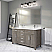"""60"""" French Gray Vanity Finish with Cultured Marble Countertop with Matching Backsplash"""