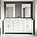 """72"""" Double Sink Vanity White Finish with Cultured Marble Countertop with Matching Backsplash"""
