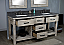 """72"""" Rustic Solid Fir Double Sink Vanity - No Faucet with Countertop Options"""
