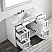"""48"""" Vanity in White with Carrara White Marble Countertop With Mirror"""