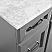 """72"""" Vanity in Grey with Carrara White Marble Countertop With Mirror"""