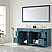 """72"""" Vanity in Royal Green with Carrara White Marble Countertop With Mirror"""