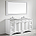 """72"""" Vanity in White with Carrara White Marble Countertop With Mirror"""