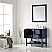 """36"""" Vanity in Royal Blue with Carrara White Marble Countertop Without Mirror"""