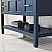 """48"""" Vanity in Royal Blue with Carrara White Marble Countertop With Mirror"""