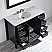 "48"" Vanity in Espresso with Carrara White Marble Countertop With Mirror"