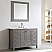 """48"""" Single Vanity in Grey with Carrara White Marble Countertop With Mirror"""