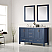 """60"""" Double Vanity in Royal Blue with Carrara White Marble Countertop With Mirror"""
