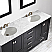 """72"""" Vanity in Espresso with Carrara White Marble Countertop With Mirror"""