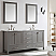 """72"""" Double Vanity in Grey with Carrara White Marble Countertop With Mirror"""