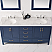 """72"""" Double Vanity in Royal Blue with Carrara White Marble Countertop With Mirror"""
