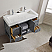 """48"""" Single Vanity in Grey with Acrylic under-mount Sink With Mirror"""