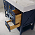 """48"""" Single Vanity in Royal Blue with Acrylic under-mount Sink With Mirror"""