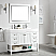 """48"""" Single Vanity in White with Acrylic under-mount Sink With Mirror"""