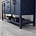 """60"""" Double Vanity in Royal Blue with Glass Countertop with White Vessel Sink With Mirror"""