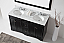 """Talisa 60"""" Double Bath Vanity in Espresso with Marble Top and Round Sink with Faucet and Mirror Options"""