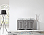"""Talisa 60"""" Double Bath Vanity in Grey with Marble Top and Round Sink with Faucet and Mirror Options"""