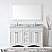 """Talisa 60"""" Double Bath Vanity in White with Marble Top and Round Sink with Faucet and Mirror Options"""