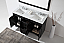 """Talisa 60"""" Double Bath Vanity in Espresso with Marble Top and Square Sink with Faucet and Mirror Options"""