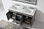 """Talisa 60"""" Double Bath Vanity in Grey with Marble Top and Square Sink with Faucet and Mirror Options"""