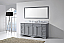 """Talisa 72"""" Double Bath Vanity in Grey with Marble Top and Round Sink with Faucet and Mirror Options"""
