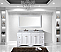 """Talisa 72"""" Double Bath Vanity in White with Marble Top and Round Sink with Faucet and Mirror Options"""