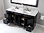 """Talisa 72"""" Double Bath Vanity in Espresso with Marble Top and Square Sink with Faucet and Mirror Options"""