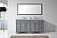 """Talisa 72"""" Double Bath Vanity in Grey with Marble Top and Square Sink with Faucet and Mirror Options"""