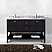 """Winterfell 60"""" Double Bath Vanity in Espresso with Marble Top and Round Sink with Faucet and Mirror Options"""