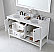 """Winterfell 60"""" Double Bath Vanity in White with Marble Top and Round Sink with Faucet and Mirror Options"""