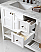 """Winterfell 60"""" Double Bath Vanity in White with Marble Top and Square Sink with Faucet and Mirror Options"""