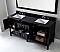 """Winterfell 72"""" Double Bath Vanity in Espresso with Marble Top and Round Sink with Mirror Options"""