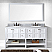 """Winterfell 72"""" Double Bath Vanity in White with Marble Top and Round Sink with Mirror Options"""