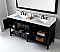 """Winterfell 72"""" Double Bath Vanity in Espresso with Marble Top and Square Sink with Faucet and Mirror Options"""