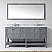 """Winterfell 72"""" Double Bath Vanity in Grey with Marble Top and Square Sink with Faucet and Mirror Options"""