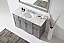 """Talisa 60"""" Single Bath Vanity in Grey with Marble Top and Round Sink with Faucet and Mirror Options"""