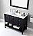 """48"""" Single Bath Vanity in Espresso with Top, Sink and Mirror Options"""
