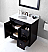 """6"""" Single Bath Vanity in Espresso Finish with Top, Sink and Mirror Options"""