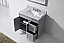 """36"""" Single Bath Vanity in Grey Finish with Top, Sink and Mirror Options"""
