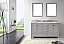 """60"""" Cabinet Only in Cashmere Grey with Top, Faucet and Mirror Options"""