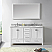 """60"""" Cabinet Only in White Finish with Top, Faucet and Mirror Options"""