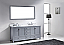 """72"""" Cabinet Only in Gray with Top, Faucet and Mirror Options"""