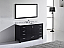 """60"""" Single Bath Vanity in Espresso with Marble Top and Mirror with Sink Options"""