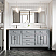 """72"""" Double Sink Vanity Gray Finish with Cultured Marble Countertop with Matching Backsplash"""