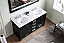 """60"""" Cabinet Only in Zebra Grey with Faucet and Mirror Options"""