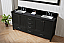 """72"""" Cabinet Only in Zebra Grey with Top and Mirror Options"""