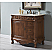 """36"""" Deep Chestnut Finish Vanity with Matching Medicine Cabinet, Mirror, or Linen Cab Option"""
