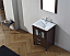 """24"""" Cabinet Only in Espresso with Top, Faucet, Mirror and Sink Options"""