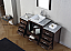 """60"""" Single Bath Vanity in Espresso with Slim White Ceramic Top and Square Sink with Polished Chrome Faucet and Mirror"""