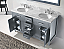 """60"""" Cabinet Only in Grey with Countertop, Faucet and Mirror Options"""
